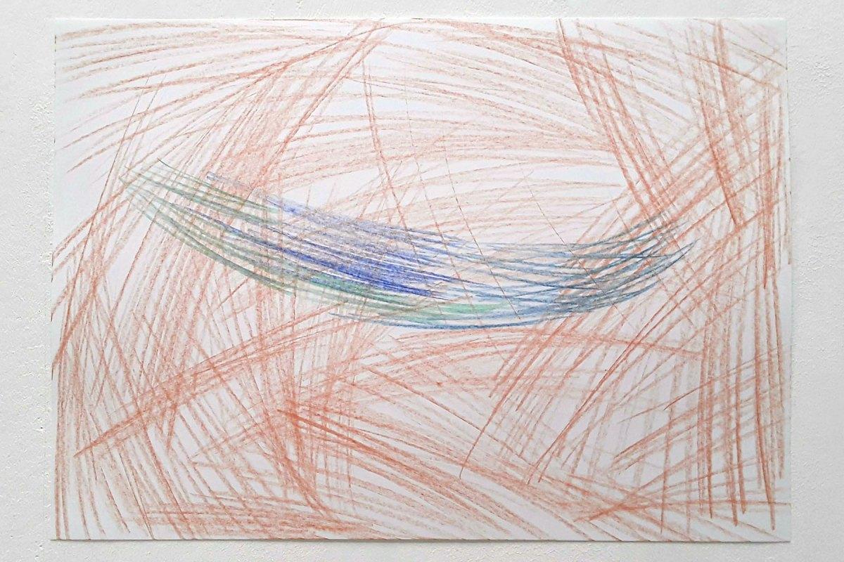 Ulrich Wellmann, 2020, Papier, Buntstift,  29,7 x 42 cm