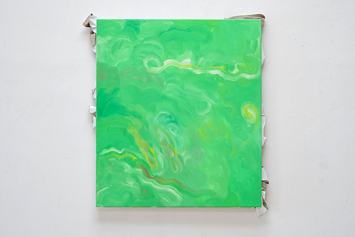 Ulrich Wellmann, 2013, Leinwand und Ölfarbe, 90 x 82 cm