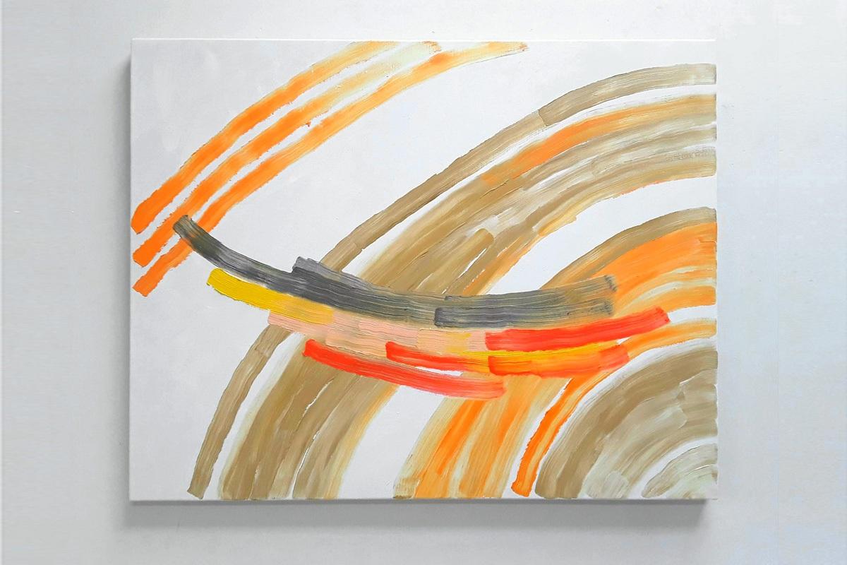 Ulrich Wellmann, Das Lachen der Malerei, 2020 Ölfarbe auf Leinwand, 90 x 115 cm
