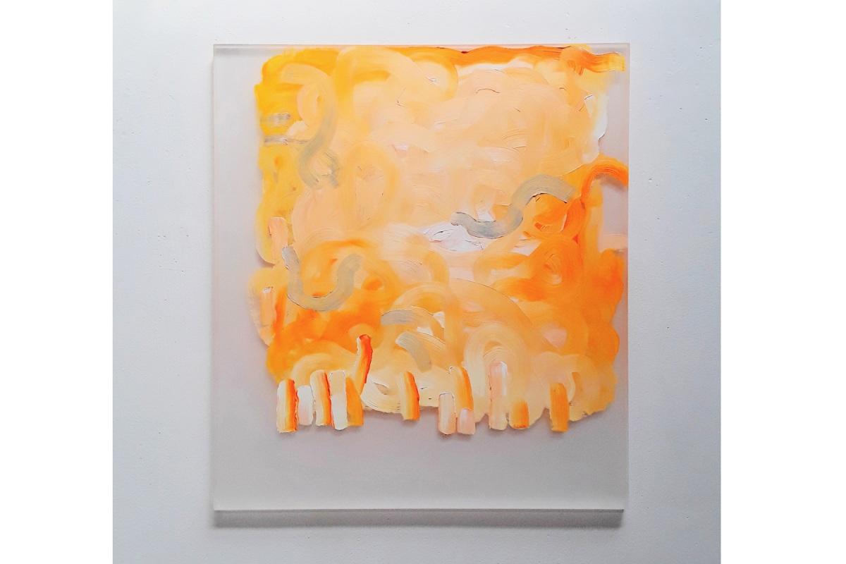 Ulrich Wellmann, 2017, Ölfarbe auf Plexiglas, 86 x 76 cm