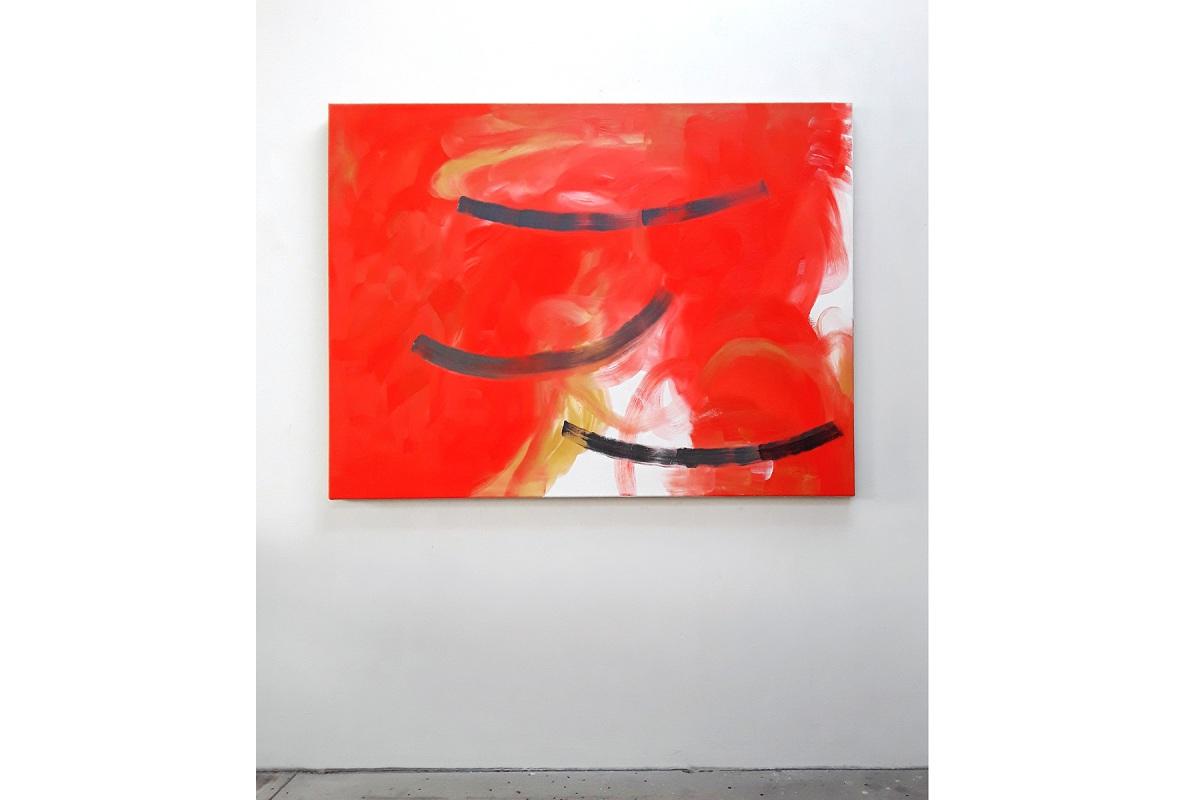 Ulrich Wellmann, Das Lachen der Malerei, 2020, Ölfarbe auf Leinwand, 120 x 160 cm