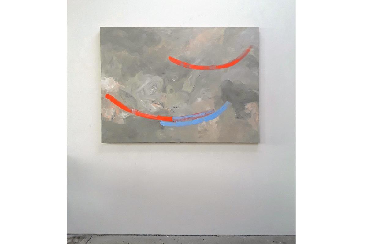 Ulrich Wellmann, Das Lachen der Malerei, 2020, Ölfarbe auf Leinwand, 110 x 150 cm