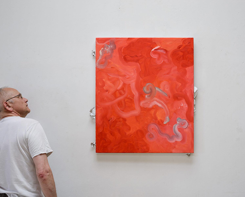 Ulrich Wellmann mit 2013 Leinwand und Ölfarbe 83 x 76 cm